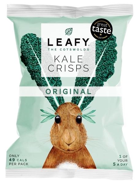 Leafy Kale Crisps Gezeichnetes Hasenmotiv