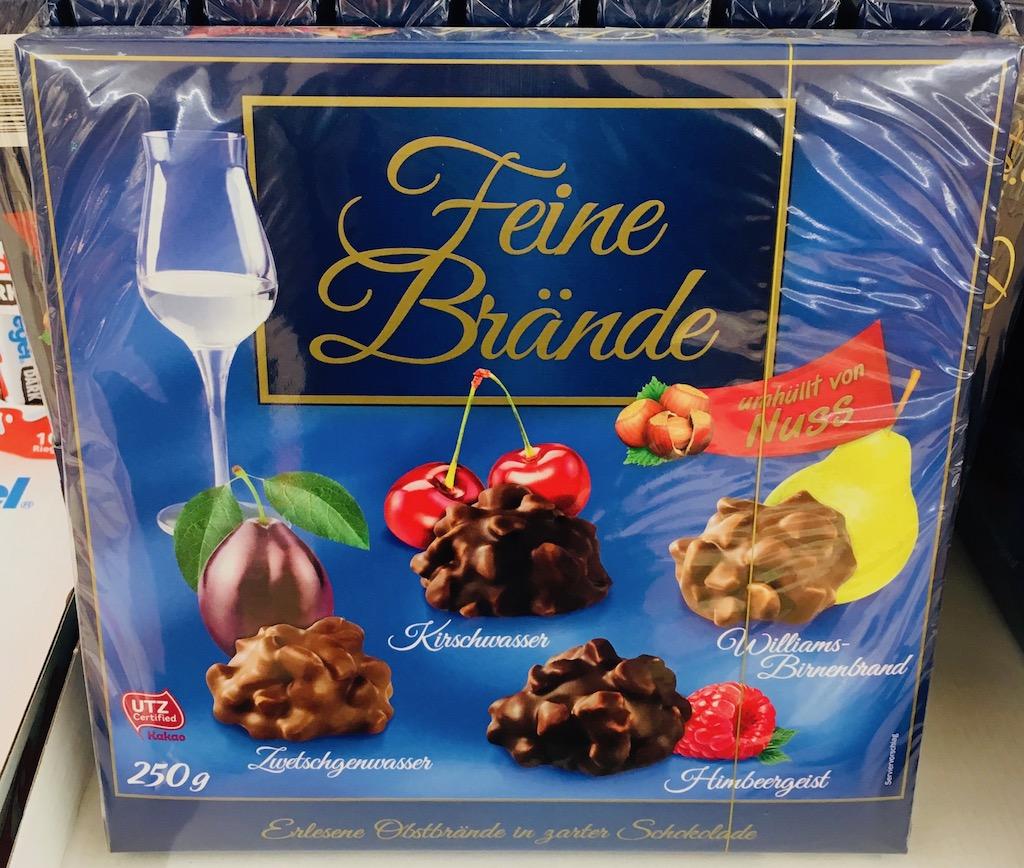 Lidl Feine Brände Zwetschgenwasser Kirschwasser Himbeergeist Williams-Birnenbrand Delitzscher Schokoladenfabrik