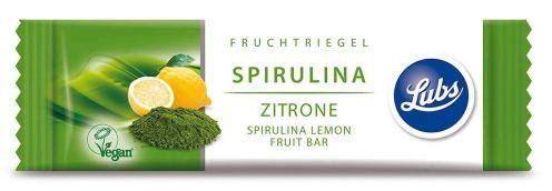 Lubs Fruchtriegel Spirulina Zitrone vegan Algen