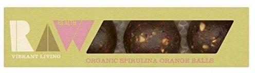 Energyballs RAW Vibrant Living Health Organic mit Spirulina und Orange.