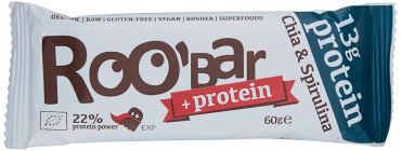 Roo'Bar +protein Chia+Spirulina Algen-Snack
