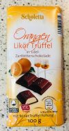 Scholetta Orangen Likör-Trüfel in Edel-Zartbitterschokolade 100 Gramm