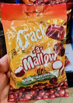 Crack-a-Mallow Crunchy Marshmallows coated in the finest Belgian Chocolate