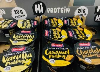 Ehrmann High Protein Vanilla and Caramell Pudding 20 Gramm Protein