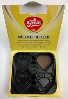 Der traurige Rest von Freia Melkehjerter Milchschokoladenherzen...