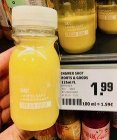 Ingwer Shot Roots&Goods mit Apfelsaft