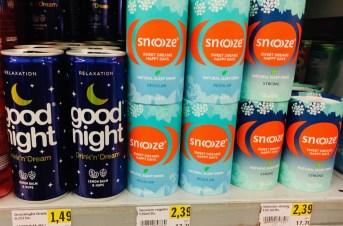 Schlaftrunke Good night Relaxation und Snoze Natural Sleep Drink Strong Getränkedosen