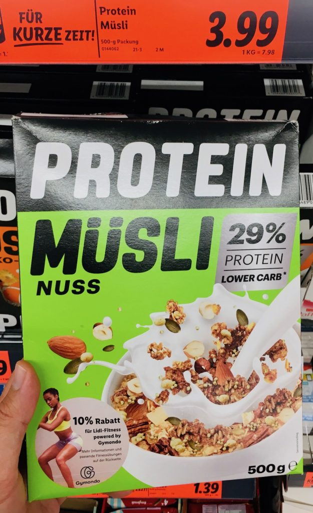 Lidl Brüggen Protein Müsli Nuss 29% Protein