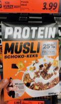 Lidl Brüggen Protein Müsli Schoko-Keks 25% Protein
