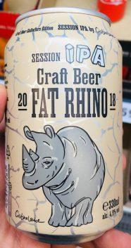 Session IPA Craft Beer Fat Rhino 2018 330ml