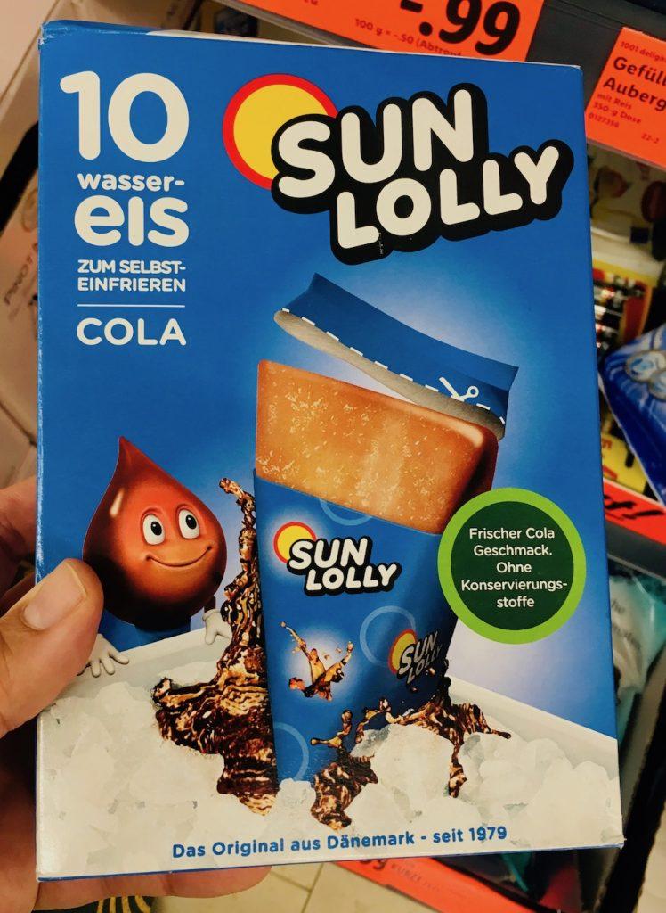 SunLolly Wassereis Cola Dänemark