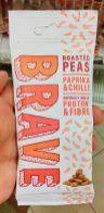 BRAVE Snack Geröstete ERbsen mit Paprika-Chilli-Geschmack mit Protein und Ballaststoffen