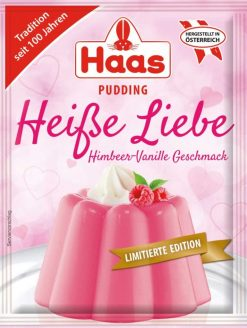 Ed Haas Pudding Heisse Liebe Himbeere-Vanille