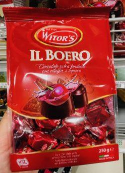 Branntweinkirschen in dunkler Schokolade von Witor's - soweit so gut...