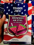 Aldi Trader Joe's Backmischung Brownies am Stil in Form von Wassermelone