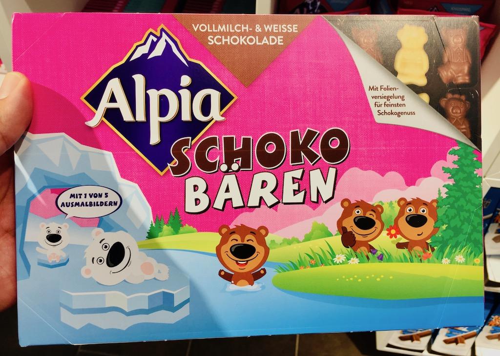 Alpia SchokoBären Vollmilch und Weiße Schokolade Baronie