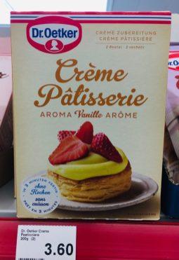 Dr. Oetker Créme Patisserie Vanille Aroma Puddingpulver Schweiz