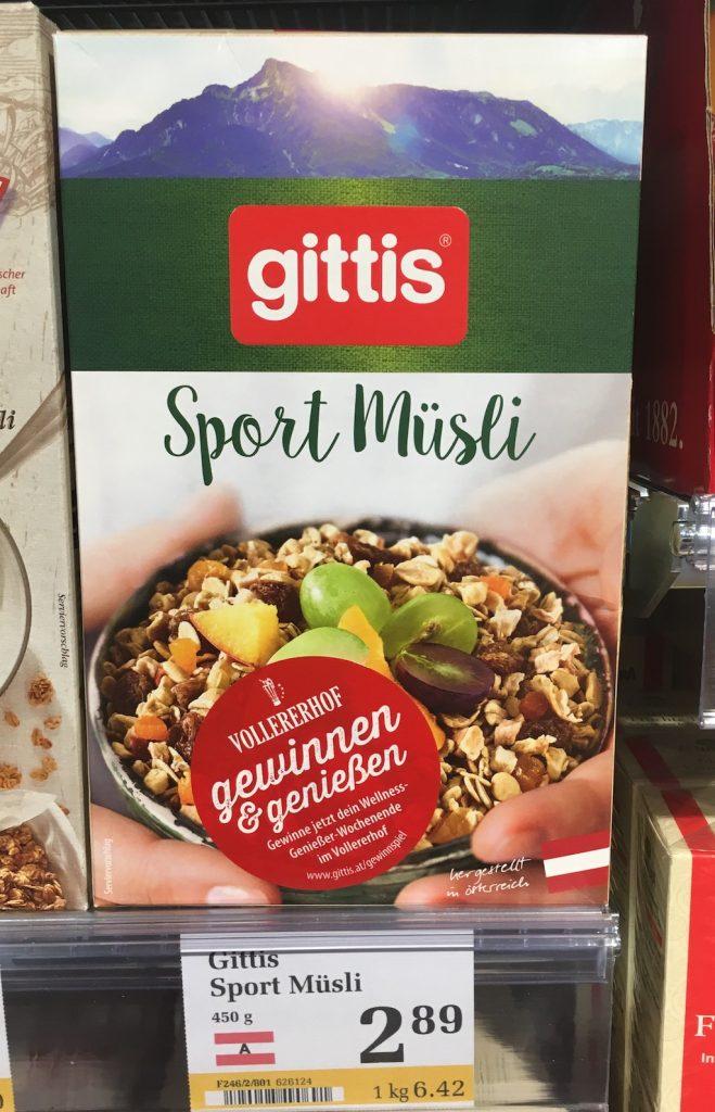Gittis Sport Müsli Österreich