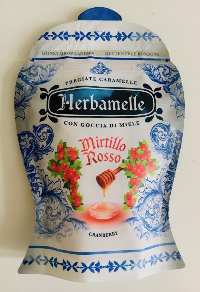 """Herbamelle"" Pregiate Caramelle con Goccia di miele Mirtillo Rosso – Rote Heidelbeere oder Cranberry"