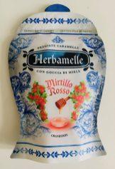 """Herbamelle"" Bonbons Pregiate Caramelle con Goccia di miele Mirtillo Rosso - Rote Heidelbeere oder Cranberry Italien 2019"