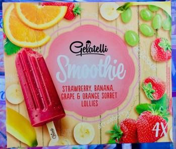 Lidl Gelattelli Smoothie Eiskrem Erdbeere-Banane-Trauben-Orange