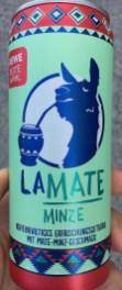 Rewe LaMate Minze Lama-Motiv Mate-Minz-Geschmack