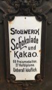 Stollwerck-Automat für Schokolade und Kakao.