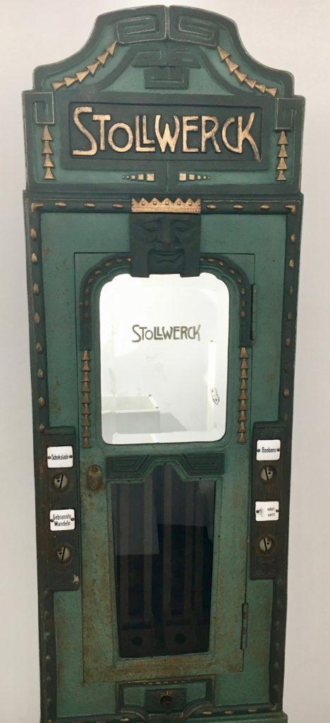 Stollwerck Schokoladenautomat Grün Jugendstil