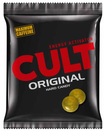 """Das Maximum an Koffein bieten die Hartkaramellen """"Cult Original""""."""