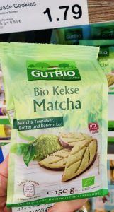 Aldi GutBio Bio Kekse Matcha 150 Gramm