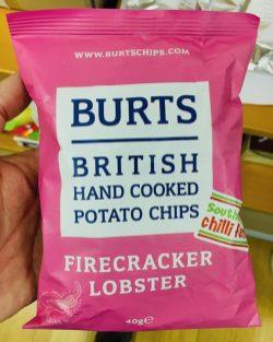 Burts Kartoffelchips Firecracker Lobster 40 Gramm