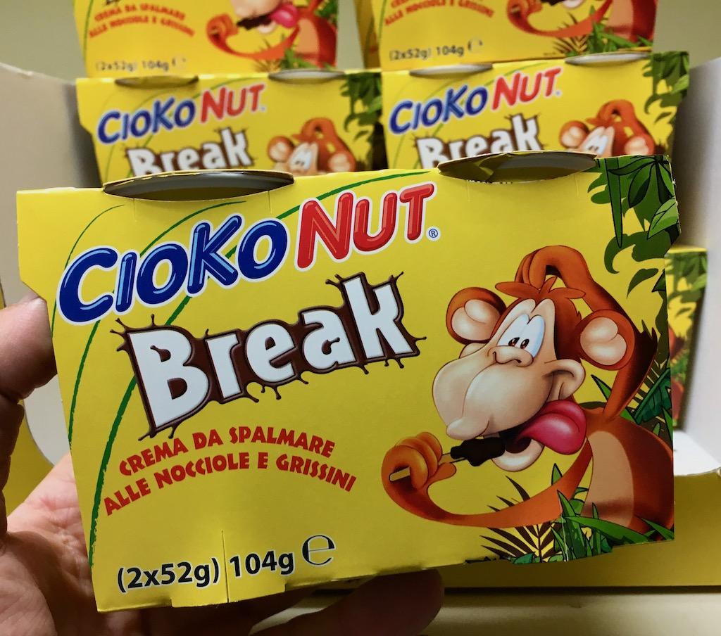 CiokoNut Break Crema da Spalmare alle Nocciole e Grissini 104G 2er Italien
