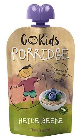 Go Kids Bio-Porridge in der Quetschtube Heidelbeere