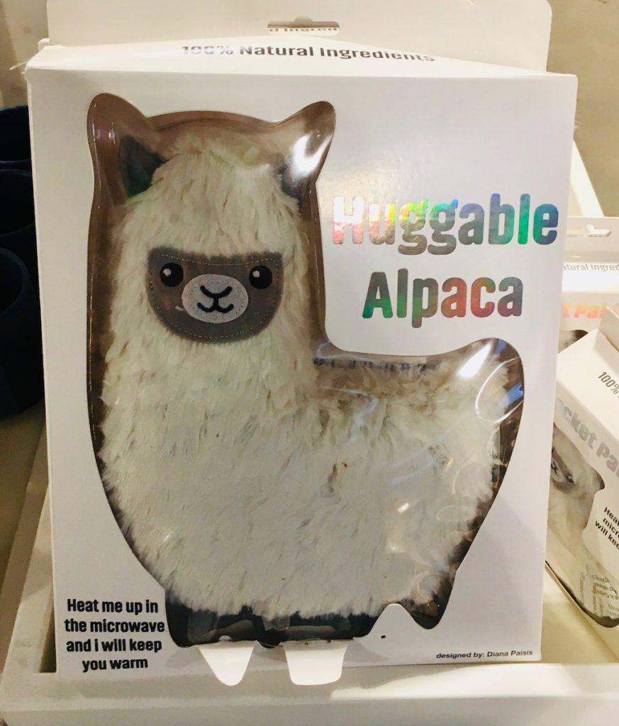 Huggable Alpaca Stofftier-Kissen zum erhitzen in der Mikrowelle
