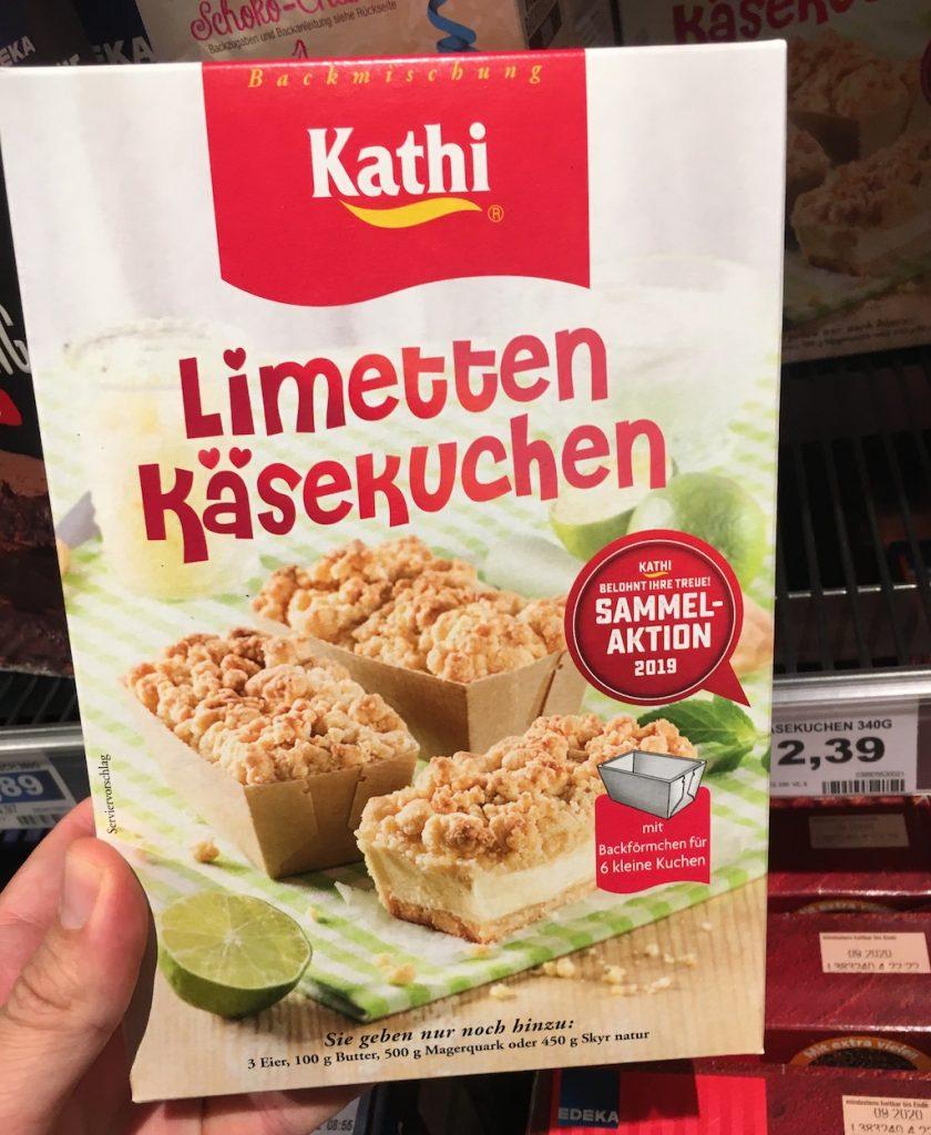 Kathi Limetten Käsekuchen Backmischung