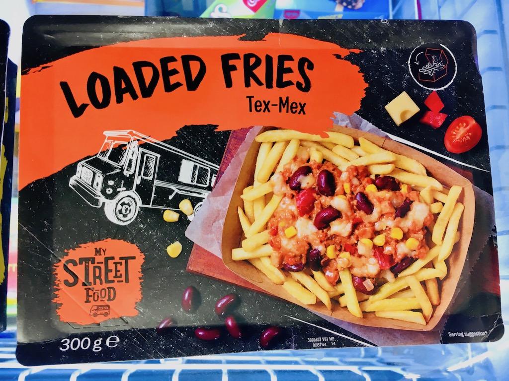 Lidl Loaded Fries TexMex My StreetFoodTruck 300 Gramm Mikrowellengericht