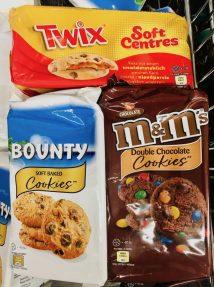 Mars Twix Bounty M+M Cookies Kekse verpackt