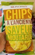 Monoprix Kartoffelchips mit Senfgeschmack Frankreich