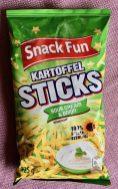 SnackFun Kartoffel Sticks Sour Cream+Onion 125 Gramm