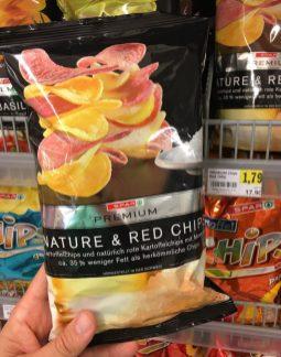 Spar Premium Nature+Red Chips mit 35% weniger Fett