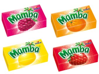 Storck Mamba Blöcke Himbeere Zitrone Erdbeere Orange