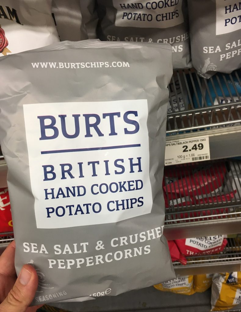 Burts British Hand Cooked Potata Chips Sea Salt+Crushed Peppercorns 150 Gramm