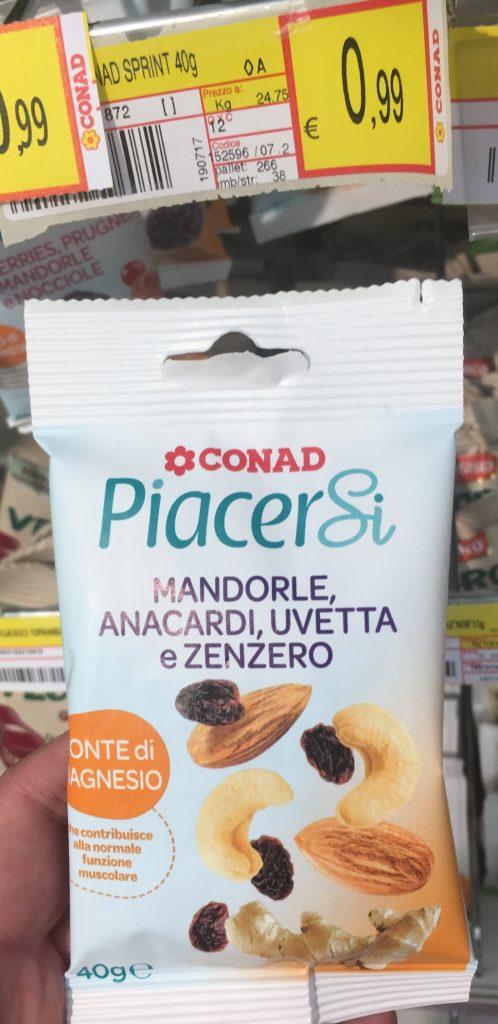 Conad PiacerSi Mandel Cashew Rosinen Ingwer 40 Gramm
