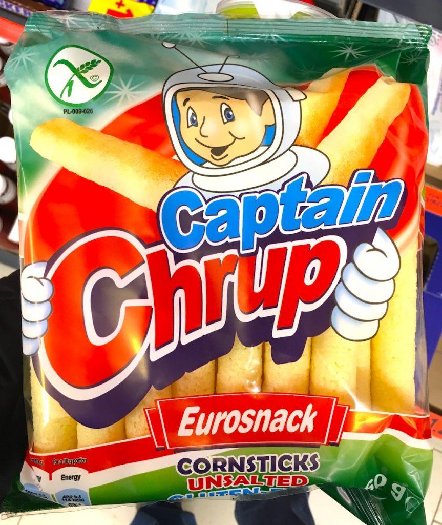 Eurosnack Captain Chrup Cornsticks unsalted 40 Gramm