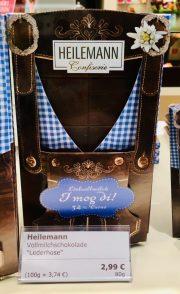 Heilemann Confiserie Tafelschokolade Lederhose Vollmilch Oktoberfest