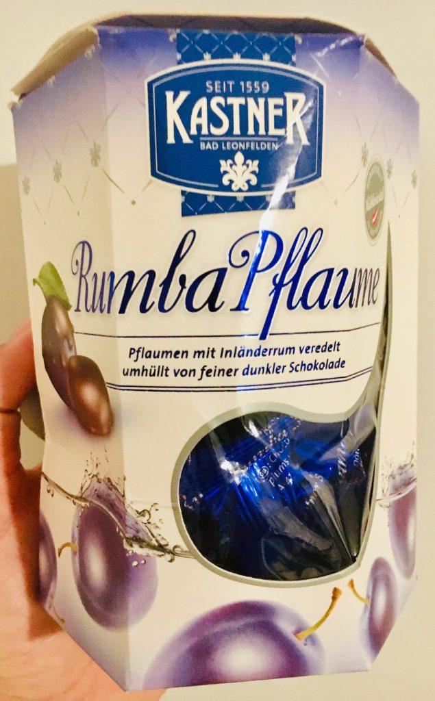 Kastner Rumba Pflaume Pflaumen mit Inländerrum veredelt umhüllt von feiner dunkler Schokolade