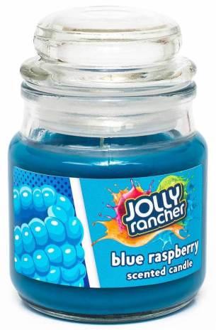 Kerze von Jolly rancher mit dem Aroma blue raspberry