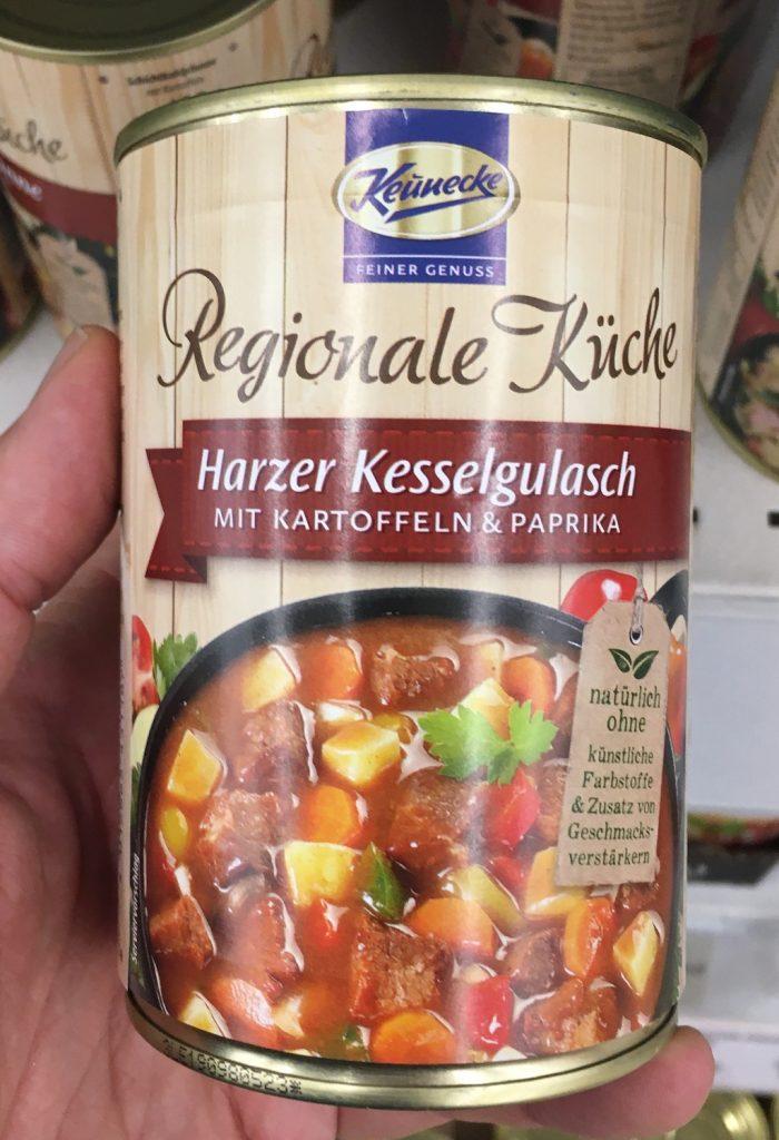 Keunecke Regionale Küche Harzer Kesselgulasch mit Kartoffeln und Paprika
