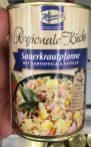 Gar niht mal so exotisch, klingt aber lecker: Sauerkrautpfanne von Keunecke in der Dose.