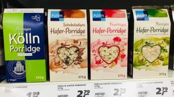 Porridge von Kölln Klassisch- Schoko-Fruchtig-Nussig
